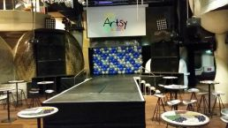 Simple yet elegant backdrop to beautify the stage area