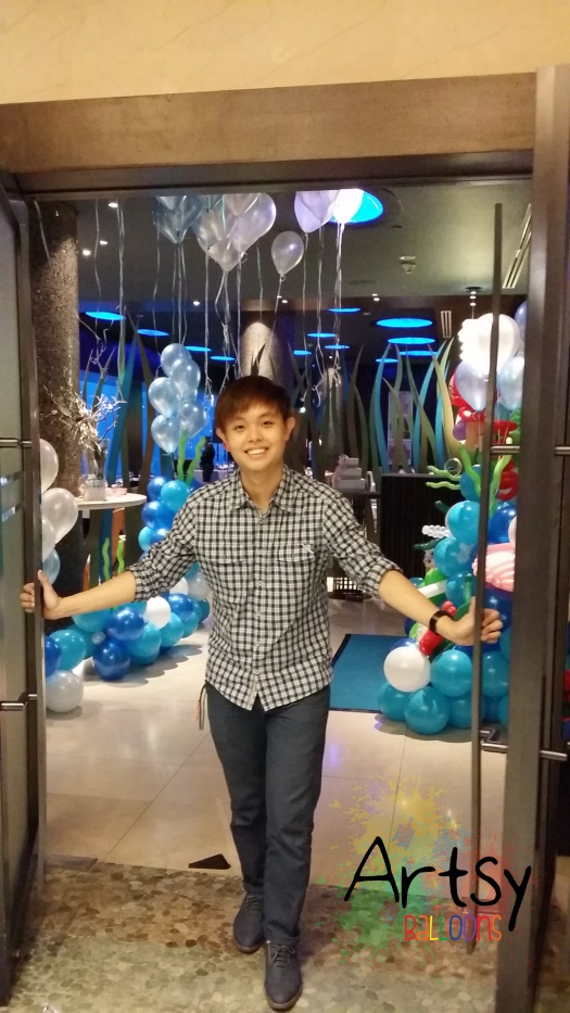 Entrance to the underwater theme balloon decoration(1)
