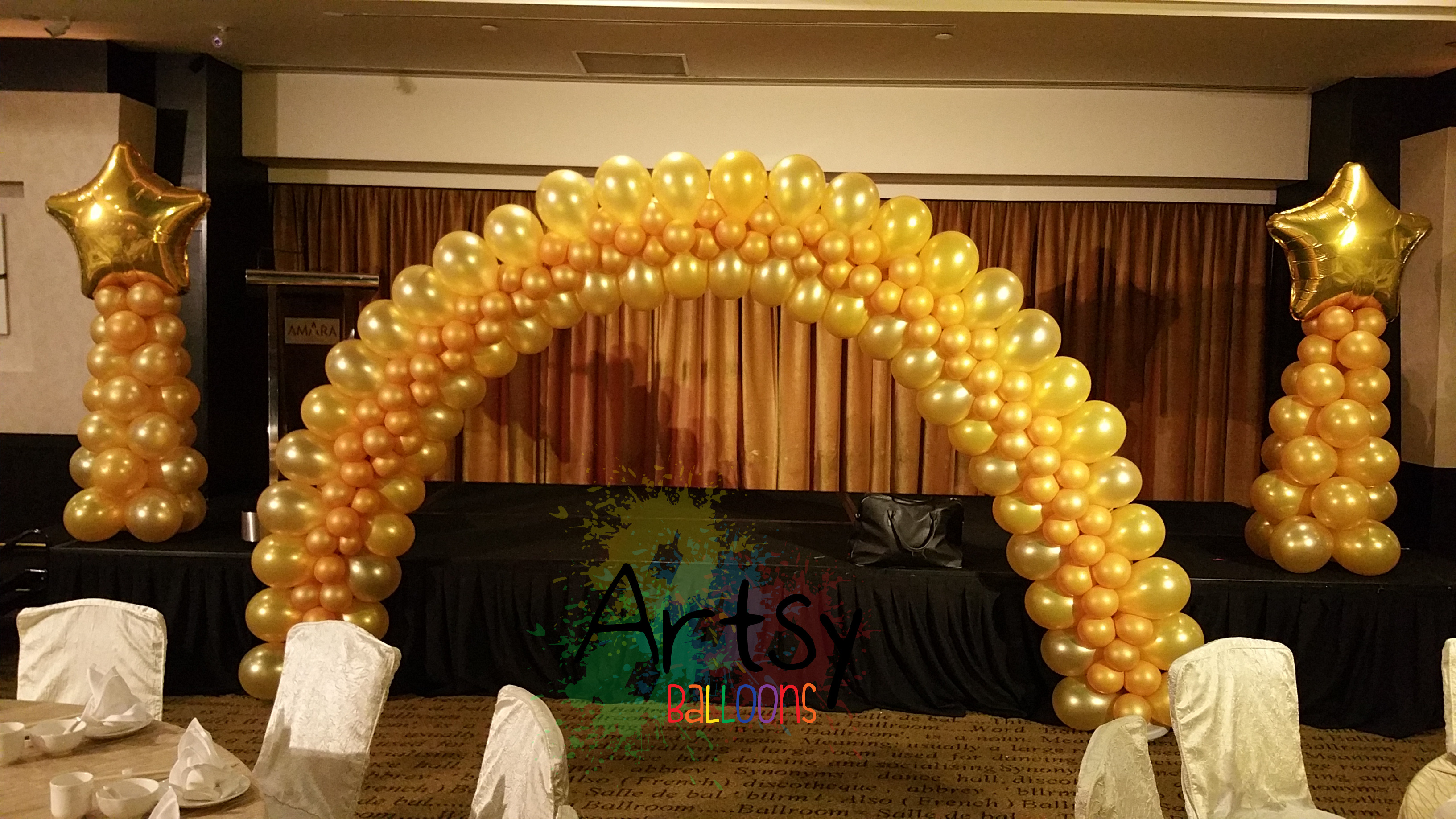 Balloon arch artsyballoons advance balloon decoration for Arch balloon decoration
