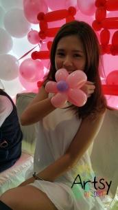 Jomain with flower bracelet