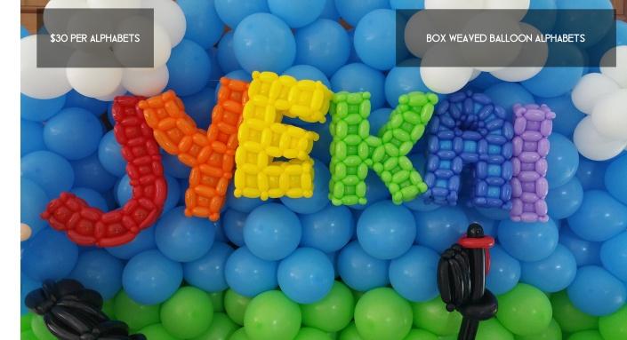 JYEKAI balloon alphabets