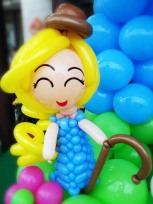 Mary had a little lamb balloon sculpture