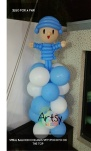 Pocoyo on balloon columns