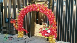 Dragon balloon arch for Chinese New Year decorations