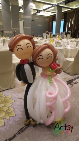 Balloon Wedding Couple