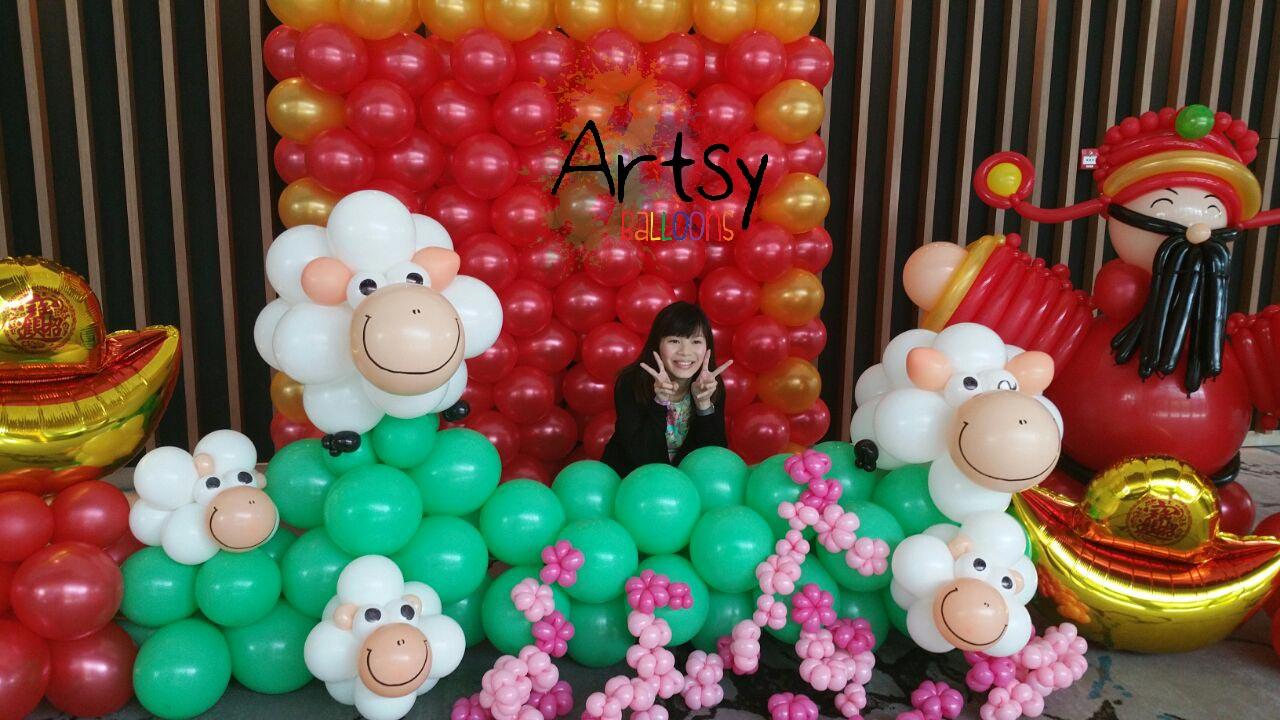 chinese new year balloon backdrop – Singapore Balloon ...