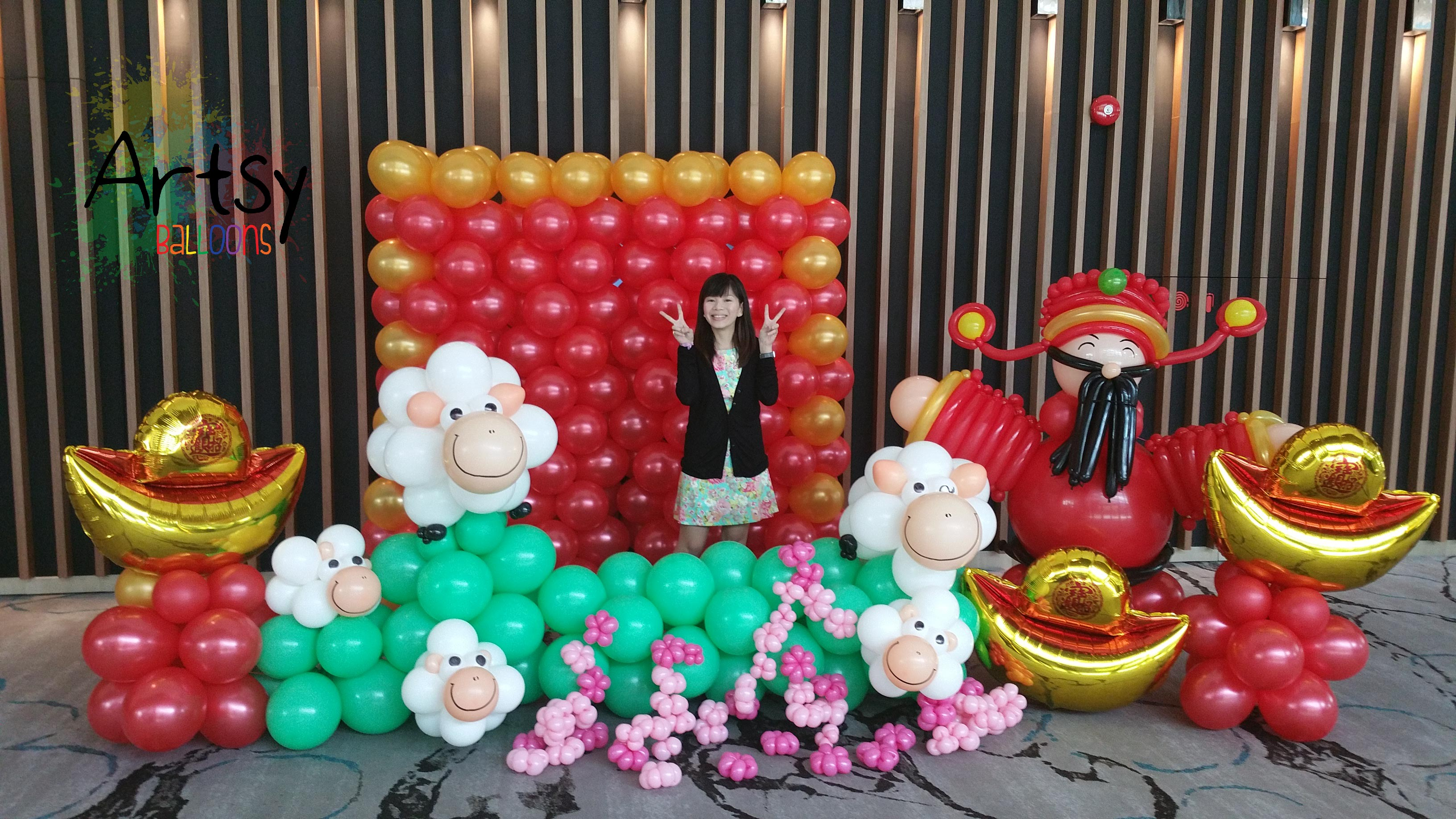 Chinese new year balloon decorations 4 singapore for Balloon decoration company