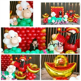 Chinese new year balloon decorations