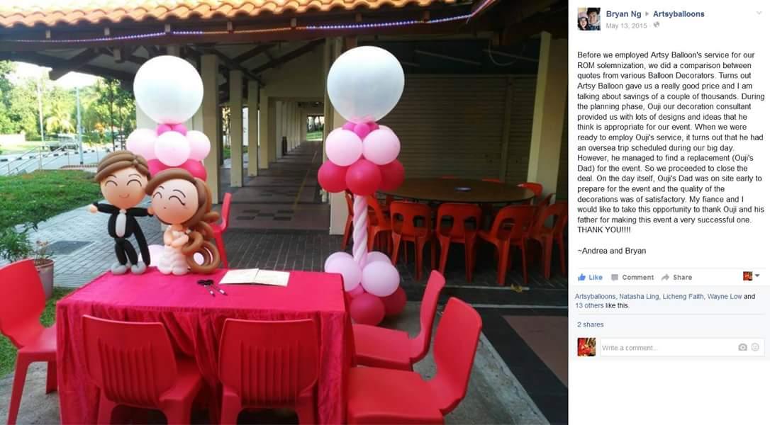 , Wedding Balloon Decorations, Singapore Balloon Decoration Services - Balloon Workshop and Balloon Sculpting