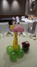 Giraffe balloon table centerpiece