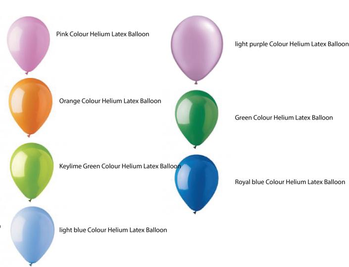 Helium balloon colours