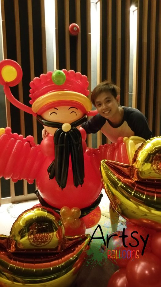Ouji with balloon god of fortune CAI SHEN YE!