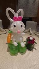 Rabbit balloon table centerpiece