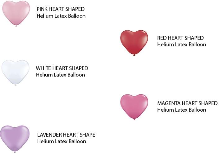 Rose Heart Shape Balloon CATALOG