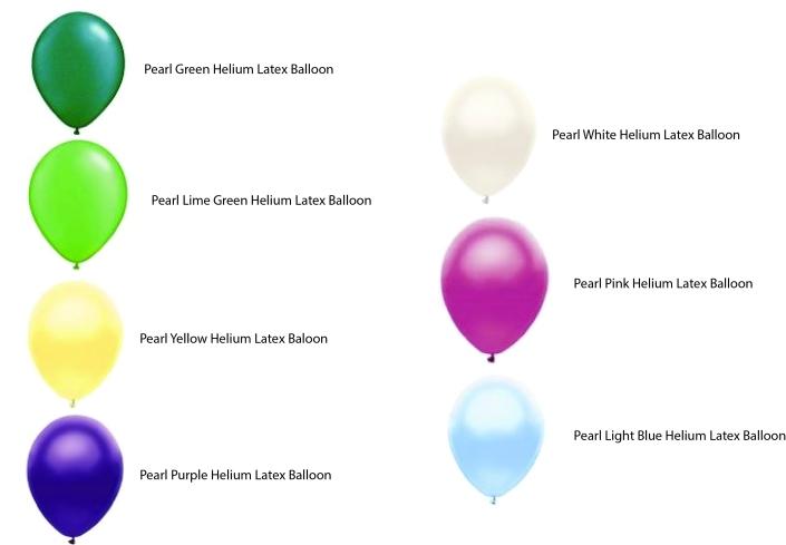 Types of helium balloons