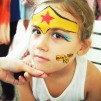 Wonderwomen facepainting