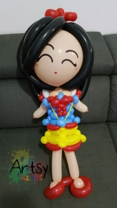 Balloon snow white