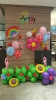 Colourful balloon backdrop