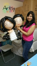 Balloon Sculpting Singapore for birthday parties and events wedding balloon couple