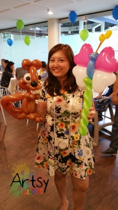 Balloon squirrel and butterfly