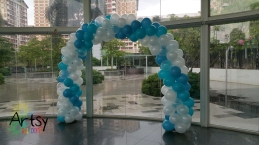Balloon Arch elsa frozen themed