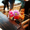 Balloon Sculpting Singapore for birthday parties and events balloon flower