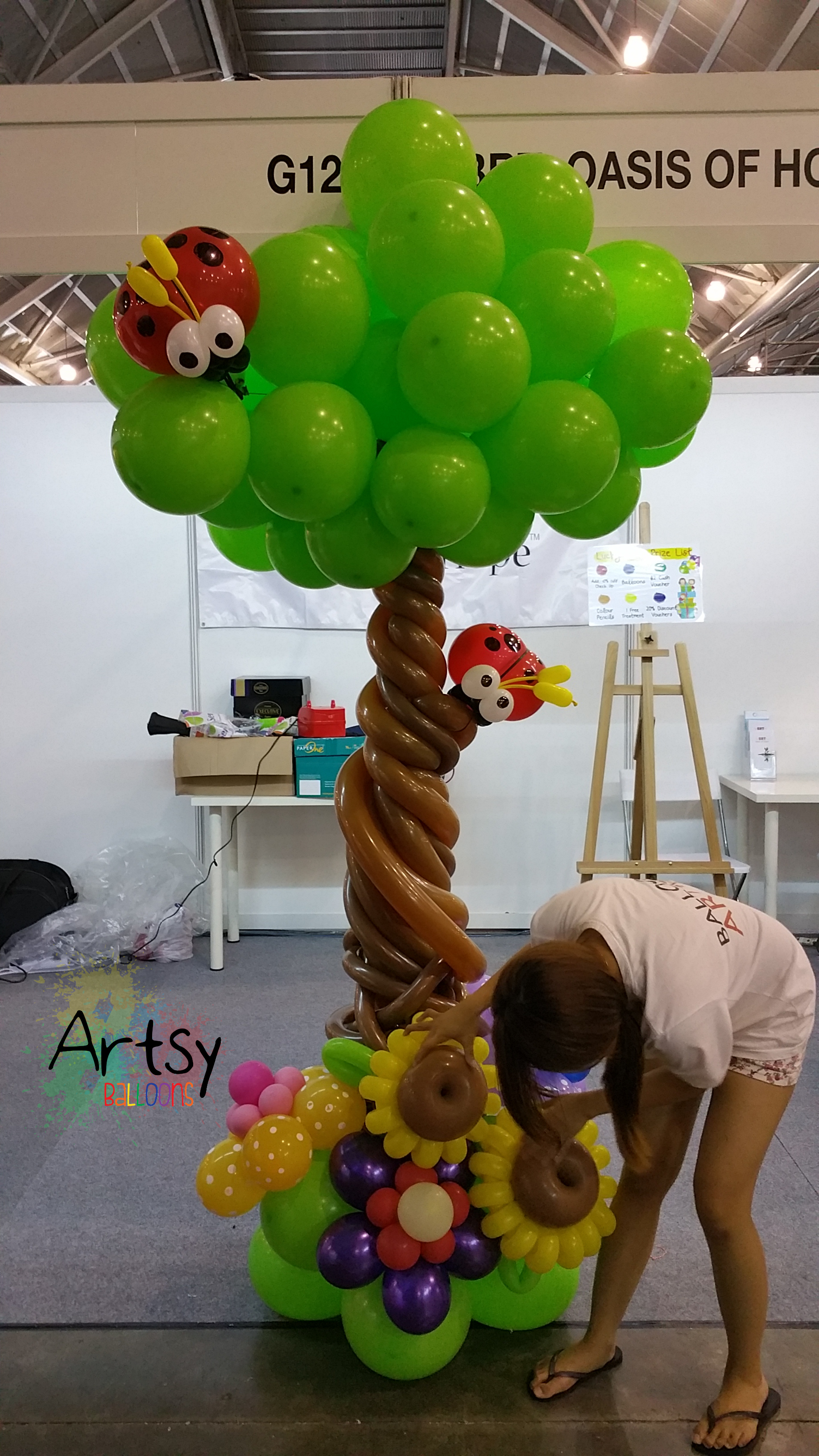 how to make a balloon tree beatiful tree