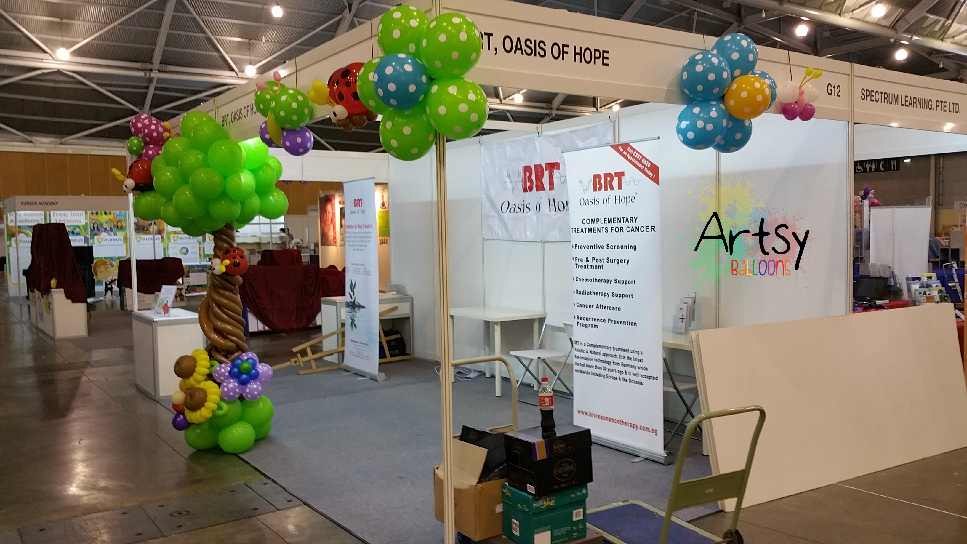 Balloon decoration for a Expo booth in Singapore! – Singapore ...