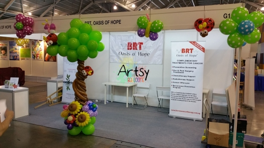 Expo booth balloon decoration