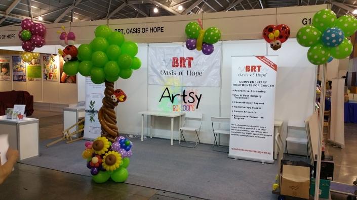 Expo booth balloon decoration