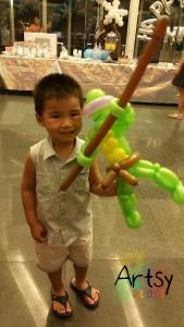 Balloon Sculpting Singapore for birthday parties and events balloon Teenage Mutant Ninja Turtle