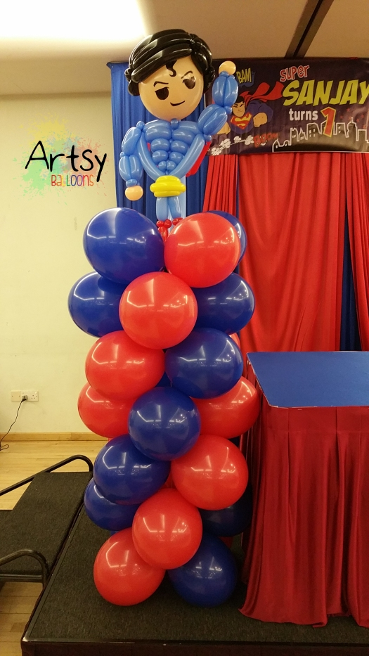 Superman balloon columns (2)
