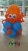 Big orange balloon octopus!