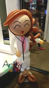 Standing balloon doctor display