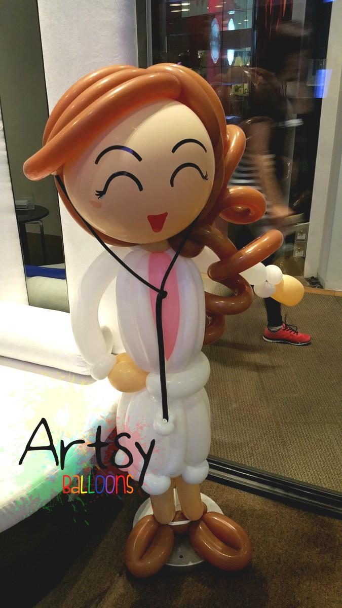 Wpid female doctor balloon sculpture1jpgjpeg Singapore