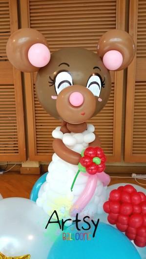 Balloon bride bear