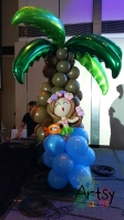 Balloon coconut tree with hawaii girl (3)