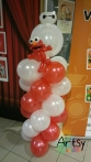 Baymax and Elmo on balloon columns