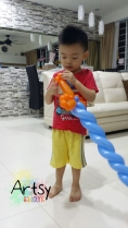 Client's children happy with my balloons