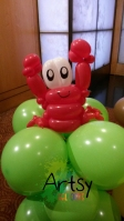 Crab balloon sculpture