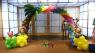 hawaii themed balloon arch