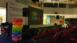 plain rainbow balloon columns (2)
