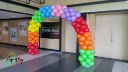 Rainbow balloon arch (2)