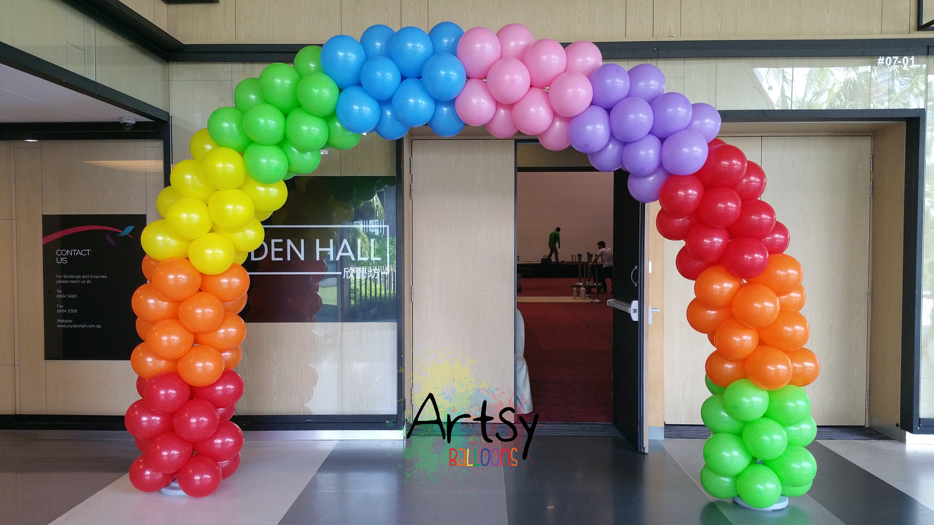 Balloon arch artsyballoons singapore balloon for Balloon decoration arches