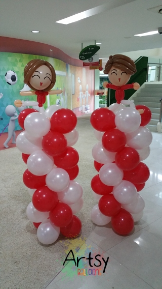 Yoga themed balloon decoration (2)