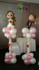 Grand wedding balloon columns