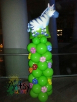Zebra foil balloon column