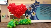 3D heart backdrop