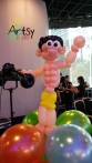 Balloon Sculpting Singapore for birthday parties and events Balloon body builder balloon sculpture