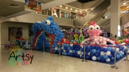 Entrance of the balloon decoration